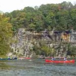 Compton's cliff and canoes