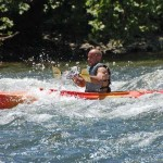 Compton's rapid wave in kayak