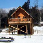 Sinker cabin in snow