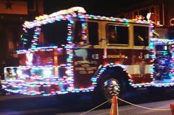 Christmas parade in Luray