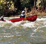 canoe in Compton's waves