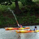 water guns and kayaks