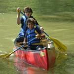 boys canoeing Shenandoah river