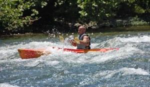 Compton's rapid wave in kayak