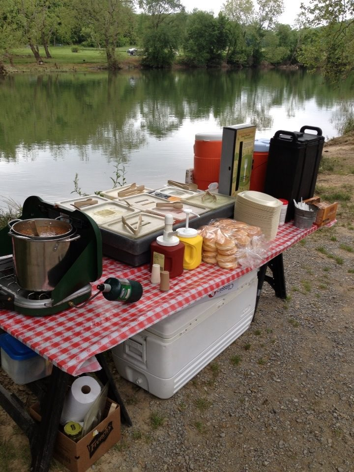 Lunch Setup by River