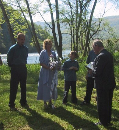 Shenandoah River wedding