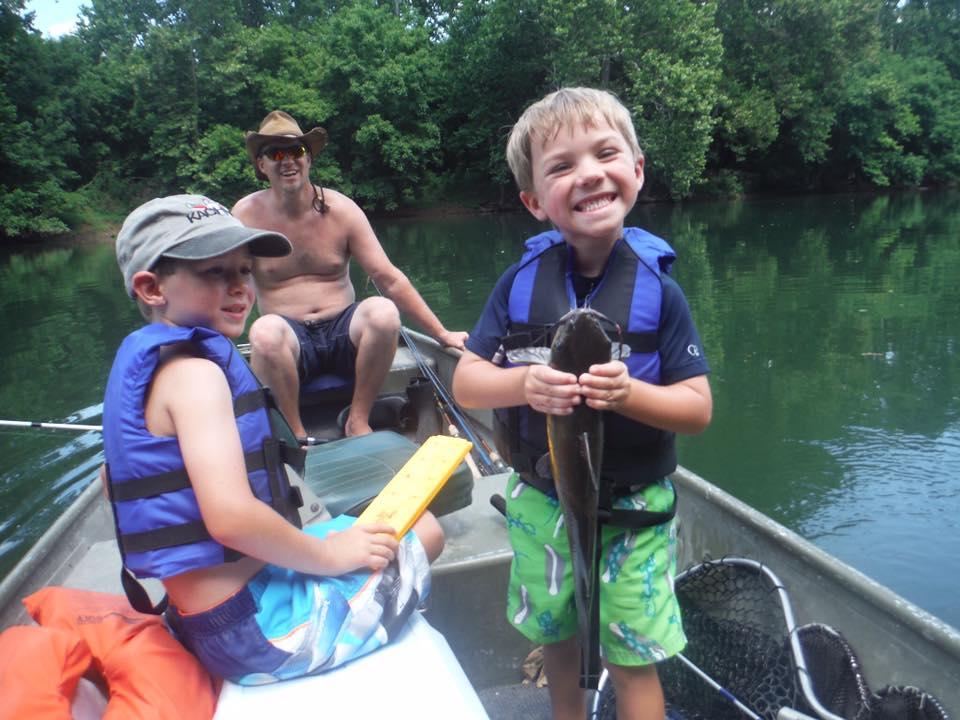 fishing kids having fun