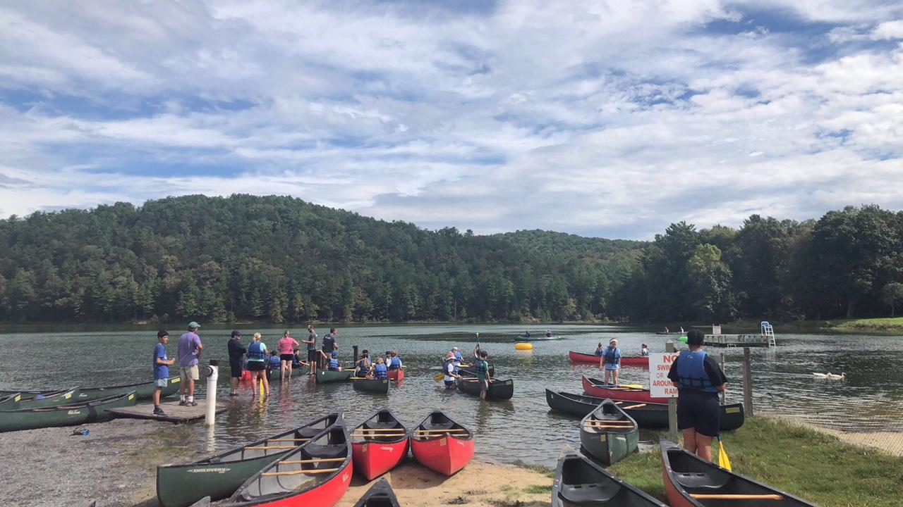 canoes at Lake Arrowhead